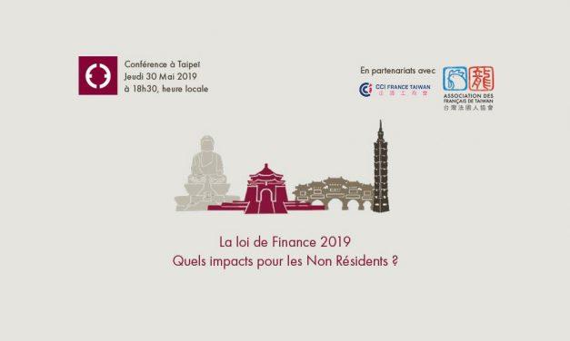 30 mai : conférence loi de Finance 2019, quels impacts pour les non résidents ?