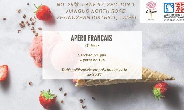 Apéro français O'Rose vendredi 21 juin 2019