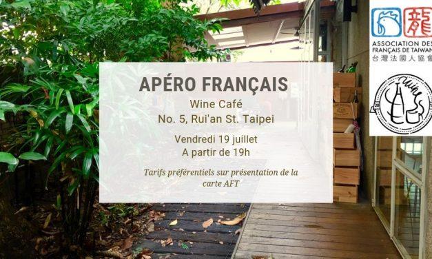 Apéro français au Wine Café – Vendredi 19 juillet 2019